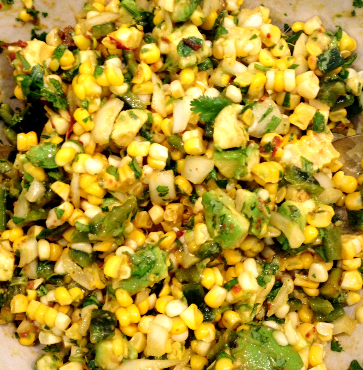 Grilled Corn, Poblano, And Onion Salad With Lime Vinaigrette Recipes ...
