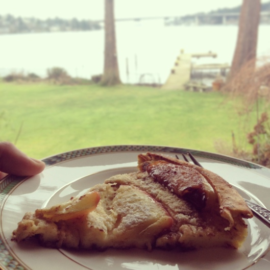 Dutch Baby with a view.