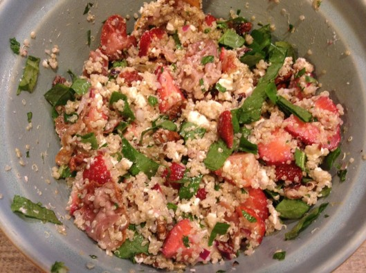 Strawberry Pecan Quinoa Salad
