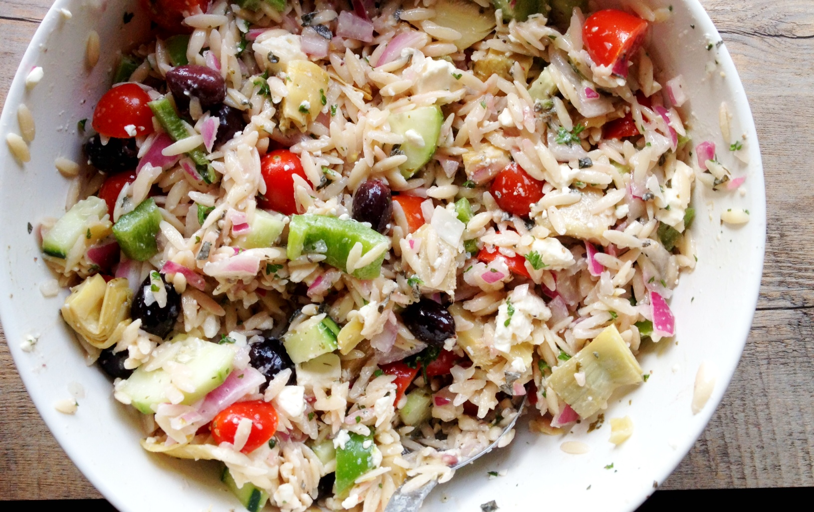 orzo salad greek orzo salad recipe greek orzo salad rr greek orzo ...
