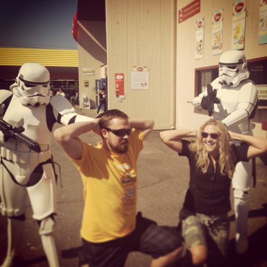 We went to the Puyallup Fair and were taken prisoner by some Storm Troopers.