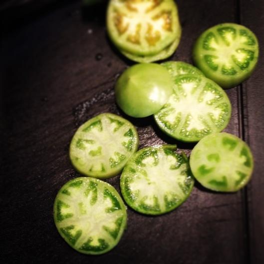 Green Tomato Caprese