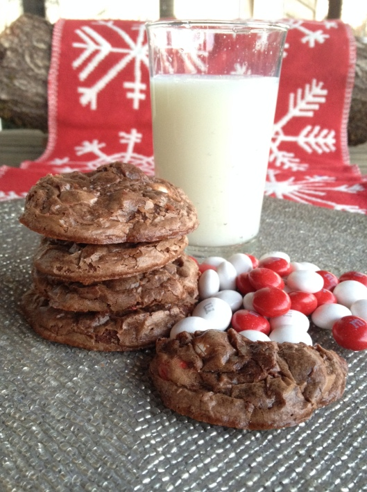 White Chocolate Peppermint Brownie Cookies