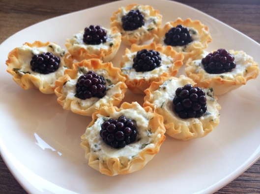 Blackberry Goat Cheese Bites