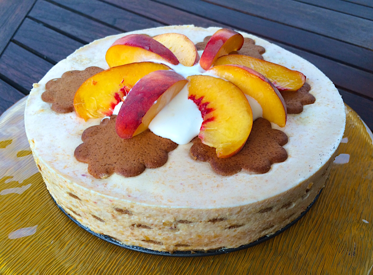 Peaches N' Cream Ginger Icebox Cake | Baked Northwest