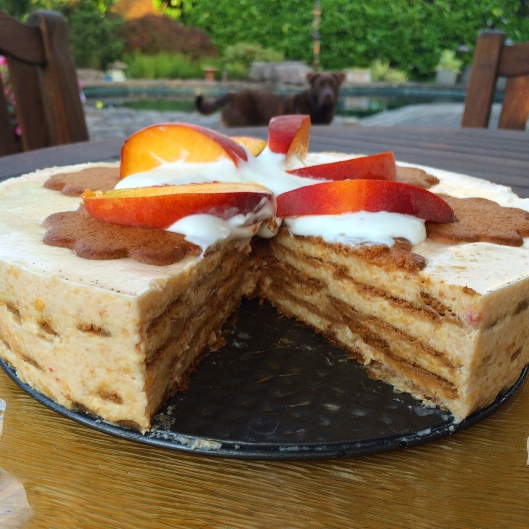 Peaches N Cream Icebox Cake
