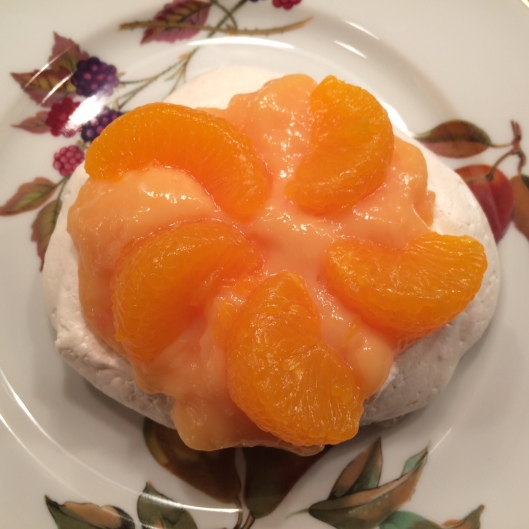 Meringue with Tangerine Citrus Curd