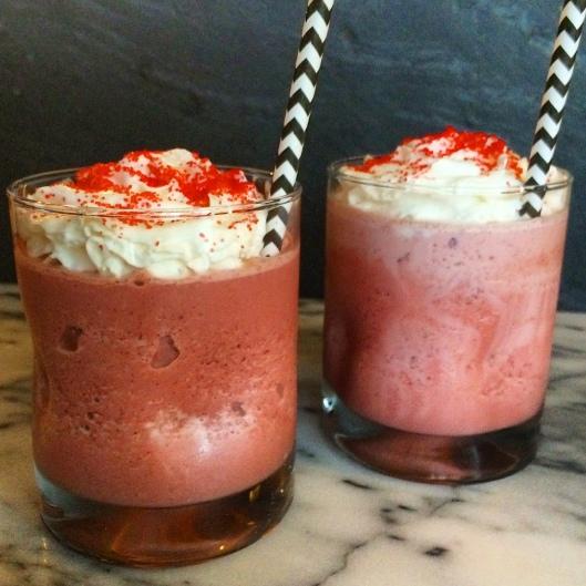 Red Velvet Oreo Milkshakes