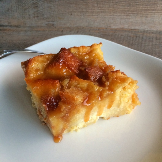 Cornbread Pudding with Whiskey Caramel Sauce