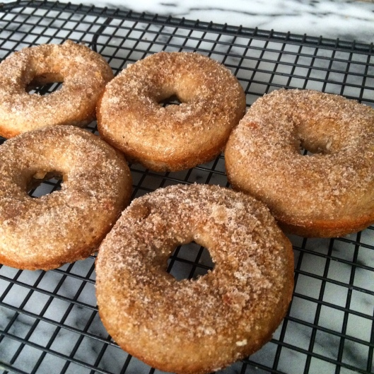 Churro Rum Baked Donuts