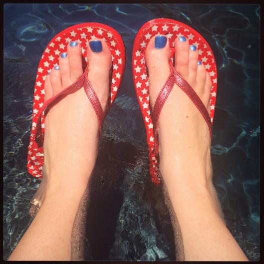 4th of July Foot Selfie