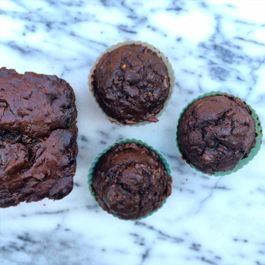 Chocolate Zucchini Muffins and Loaf