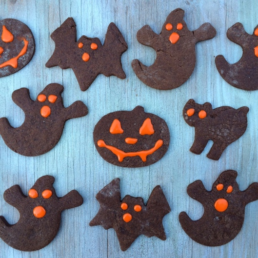 Halloween Brownie Sugar Cookies